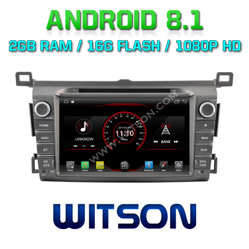 WITSON Android 8.1 Car audio player For TOYOTA RAV4 2013-2014 car dvd gps1080P HD Mirror Link/TPMS/DVR/OBD/4G modem support