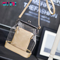 2016 Summer Beach Bag Famous Brand Transparent Handbag Fashion PU Leather Women Purse Phone Bag Ladies Shoulder Bags