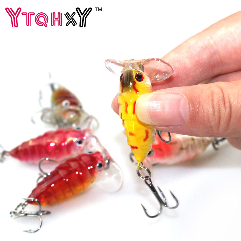 1Pcs Topwater Insects Fishing Lure 4cm 4.2g hard Bait Bass Crankbait flying jig wobbler fishing tackle YE-206 30pcs set fishing lure kit hard spoon metal frog minnow jig head fishing artificial baits tackle accessories
