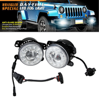 4INCH Round LED Fog Light Auto Daytime Running Light DRL 12V 24V Waterproof IP68 Work Driving