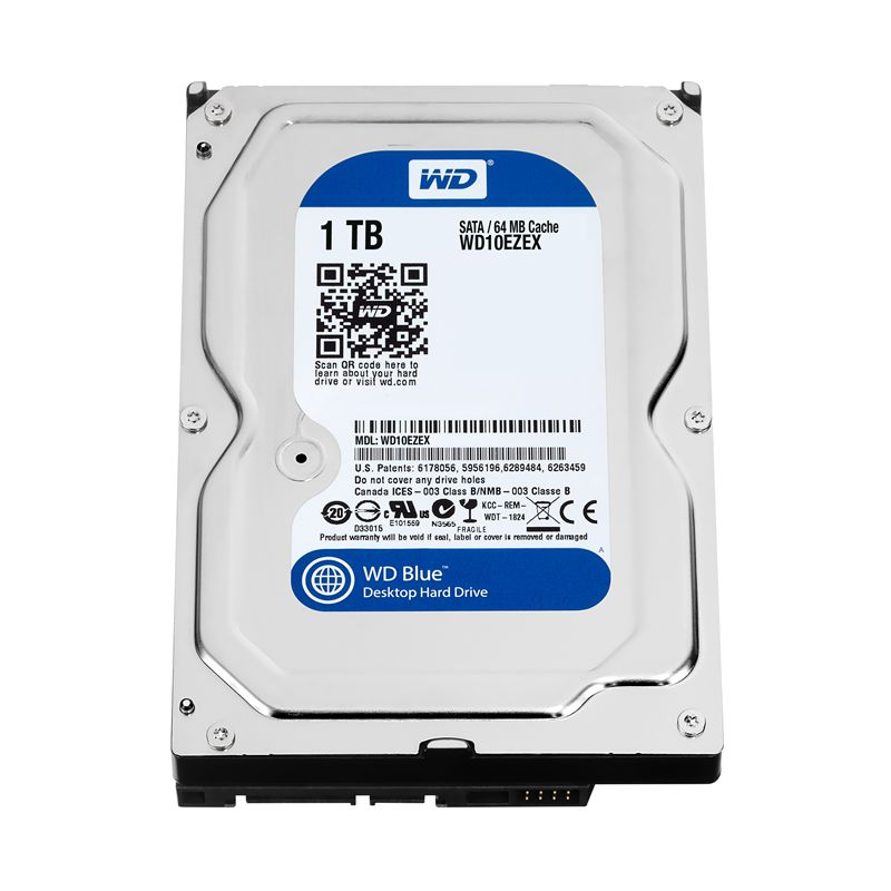 WD 1TB Blue <font><b>3.5</b></font> <font><b>SATA</b></font> 6 GB/s <font><b>HDD</b></font> <font><b>sata</b></font> internal hard disk 64M 7200PPM drive desktop <font><b>hdd</b></font> for PC WD10EZEX image