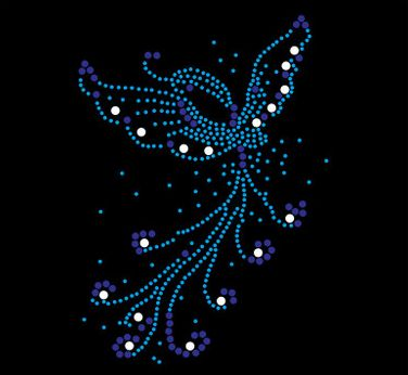43bb0ba454 2pc/lot bluebutterfly rhinestones motif hot fix rhinestone transfer motifs  iron on applique patches ...