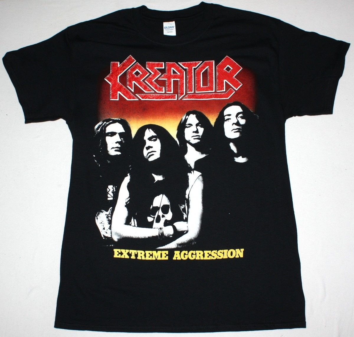 KREATOR EXTREME AGGRESSION THRASH METAL DESTRUCTION TANKARD NEW BLACK T-SHIRT Normal Short Sleeve Cotton T Shirts