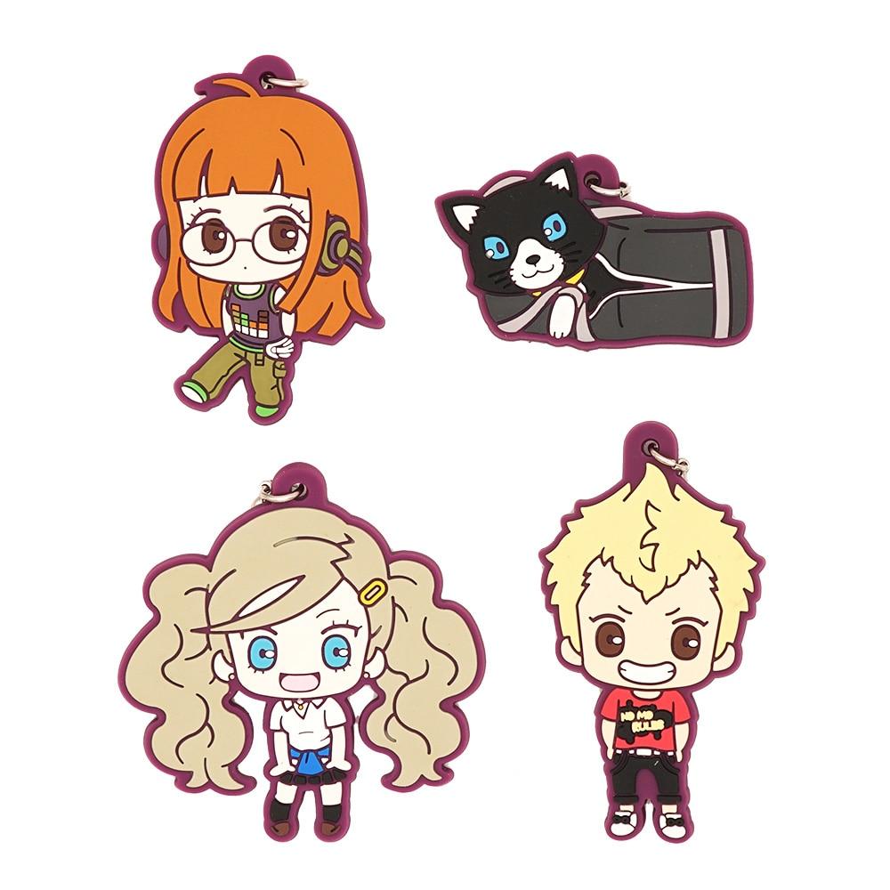 Persona 5 Anime P5 Futaba Sakura Ryuji Sakamoto Anne Takamaki Strap Rubber Keychain kinomoto sakura kero daidouji tomoyo anime cardcaptor sakura rubber keychain