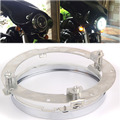 High Quality Steel And Chrome Plated Moto Headlamp 7 Inch Round Mounting LED Daymaker Headlight Trim Bracket Ring For Harley