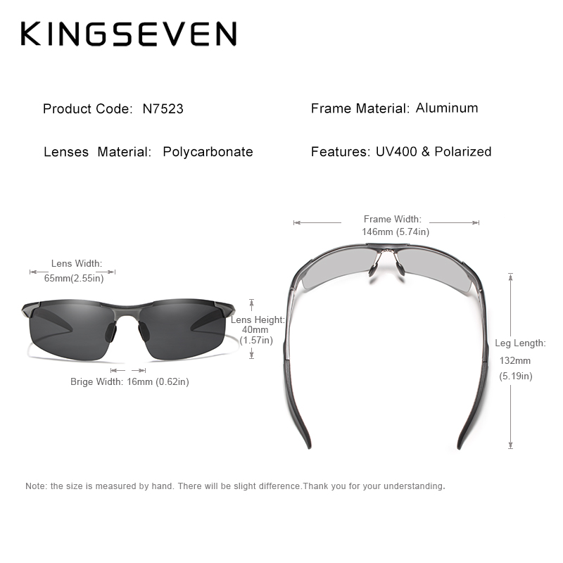 Kingseven marca hombres gafas polarizadas recubrimiento gafas de sol - Accesorios para la ropa - foto 5