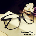 vintage sheet Men Women eyeglasses plain mirror Clear Lens Nerd Frame Glasses Freeshipping