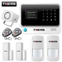 Fuers 2017 Update G90B WiFi GSM Home Security Alarm System With Wireless PIR Detector Door Sensor