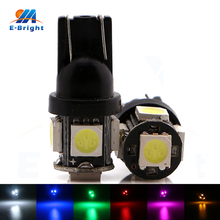 купить 500 Pieces Car Auto LED T10 5050 W5W 5 SMD 194 168 LED White Lamp Bulb Car Side Wedge Tail Light дешево