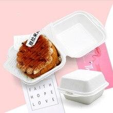 50pcs/lot Mini Cupcake Box Disposable Green Paper Hamburger Party Handmade Baking Packing