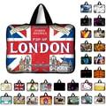 7 10 12 13 14 15 15.6 17.3 london UK Flag Bolsa de Portátil Cubierta elegante de la Tableta Bolsa de Ordenador Portátil Caja de la Manga Para Macbook Hp Dell Laptop Bags