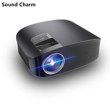 Sound Charm YG610 3600 Lumens Full HD LED Projector Wired Sync Display Multi Screen Home Theatre HDMI VGA USB Video Projector
