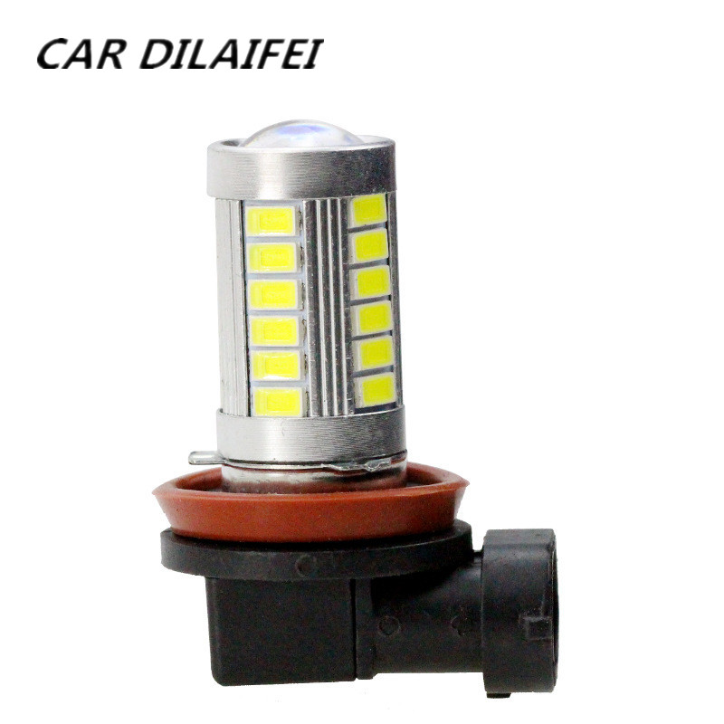 2pcs Bright Error free H8 H11 5630 33SMD LED projector Fog Light bulb For BMW E39 325 328 M mini SPORT Car Accessories