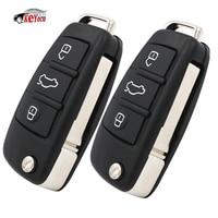 KEYECU 2 Pcs Folding Remote Car Key Keyless Entry 3 Button 433MHz for Audi Q7 8E0 837 220AF with 8E Chip Key Blank Uncut Blade