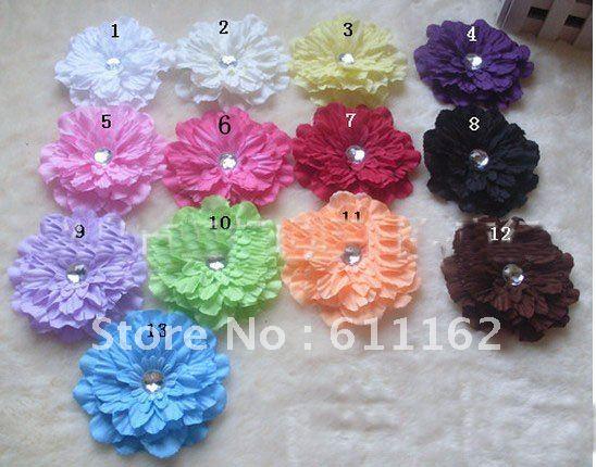 1000 шт 4 ''пион Гербер Пион Детские банты для волос детские заколки для девочек цветы полосы xearfgaerfa