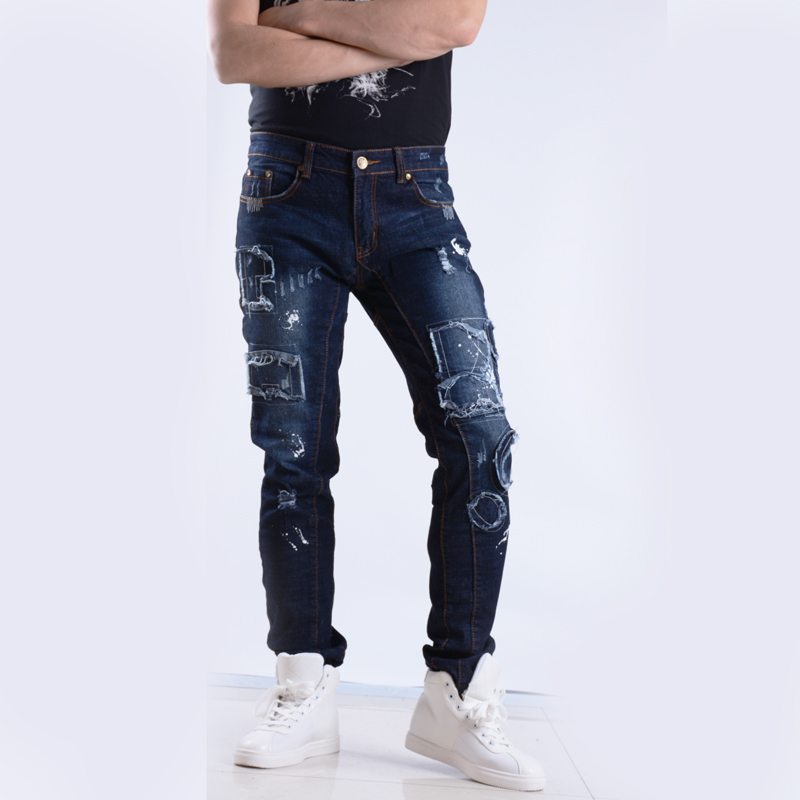 Compare Prices on Mens Distressed Jeans Ripped Painted- Online ...