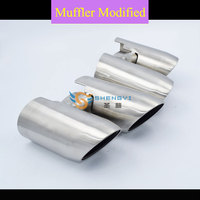Good Quality of Bilateral Double Out Stainless Steel Muffler Tips Exhaust with with Circular Mouth Fit on Por*che Pan*mera 2014|Mufflers|   -