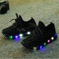 Luminous sandálias Novas Moda Bonito CONDUZIU a Iluminação Crianças Sapatos Filhos Adoráveis Sapatilhas instrutor de Alta Qualidade Cool Boy Meninas tenis