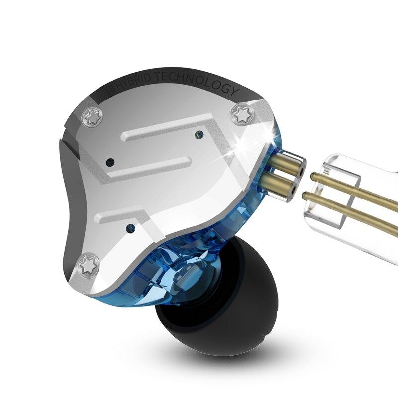 KZ ZS10 Pro métal casque 4BA + 1DD hybride 10 unités HIFI basse écouteurs dans l'oreille casques Sport suppression du bruit écouteurs - 5
