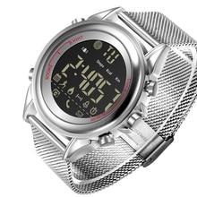 블루투스 스포츠 단계 카운터 전화 알람 시계 알림과 새로운 남자의 안드로이드 스마트 시계 방수 스틸 메쉬