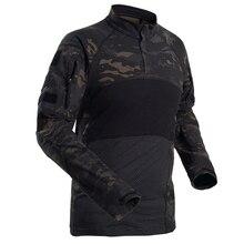 Military Mens Camouflage Tactical T Shirt Long Sleeve Brand Cotton Breathable Combat Frog Tshirt Men Training Shirts uniform