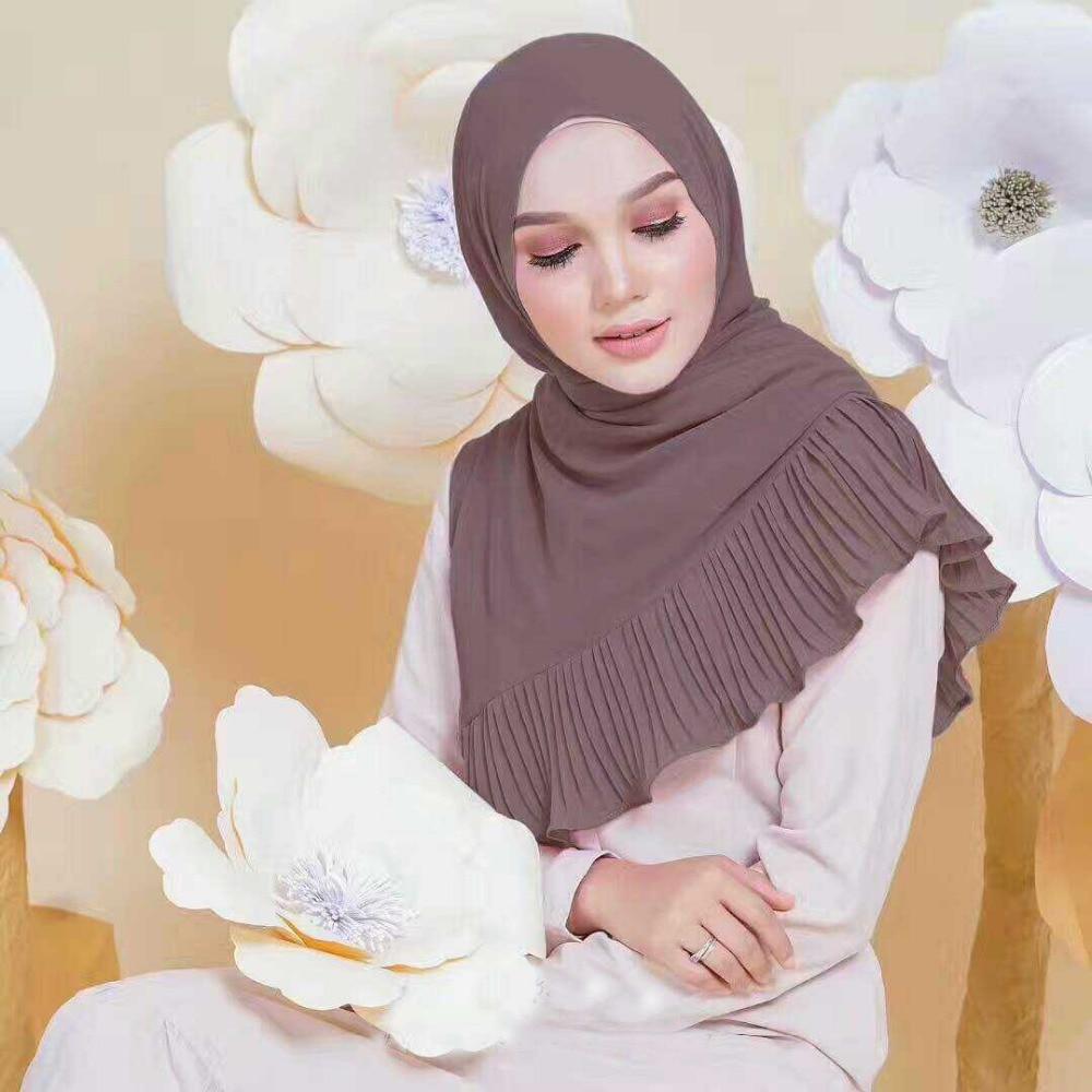NEW design Patchwork pleat bubble chiffon Wrinkle shawls hijab drape stitching muslim scarves/scarf 22 color 10pcs/lot