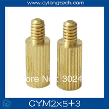 Free shipping M2*5+3mm  cctv camera isolation column 100pcs/lot Monitoring Copper Cylinder Round Screw
