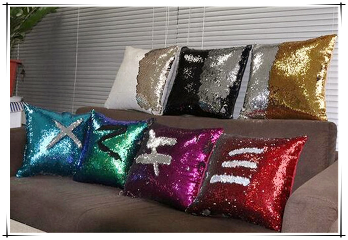 Hot sale 2017 new DIY Glitter Sequins Throw Pillow Cases 7