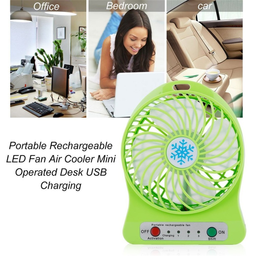 5Colors Mini LED Fan Air Cooler USB Charging Desktop 3 Mode Speed Regulation FAN With LED Lighting Function Battery Operated Fan hot sale 6 inch 3 in 1 desktop ventilador usb fan temperature led display fan clock mini usb table fan cooler drop shipping