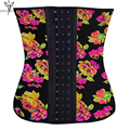 Flower latex waist trainer cincher corsets bustiers women underbust corset belt slimming sheath belly body shaper fajas corsetto