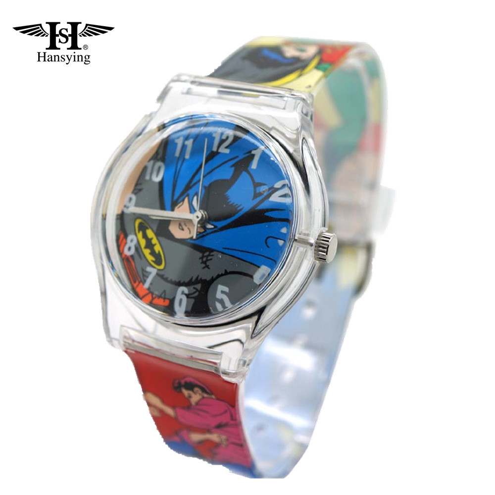 Hansying Hot Batman Design Kinder wasserdichte Uhr Studenten Cartoon Uhr Frauen Mode Uhren
