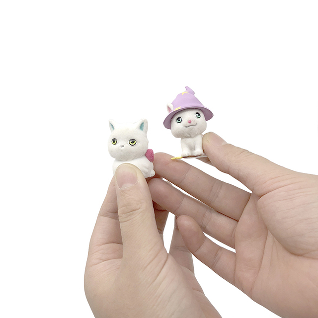 Cartoon Little Cute Plastic Cat Dolls