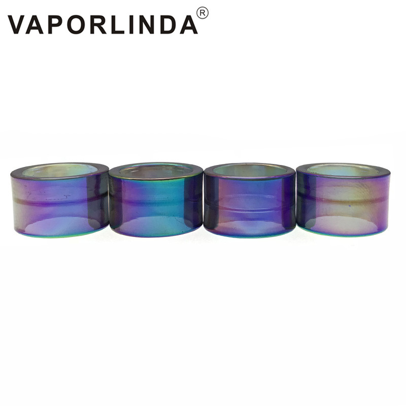 Electronic Cigarettes 10pcs Replacement Pyrex Bulb Rainbow Glass Tubu For Smok Stick V9 Max Tank Atomizer Fit Stick V9 Max Kit 8.5ml Capacity Consumer Electronics