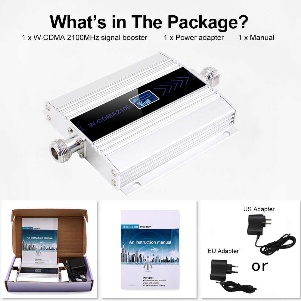 Image 5 - 3G Ripetitore 2100MHz Repeater LCD WCDMA 2100 MHZ Mobile Phone mini Signal Booster Signal Booster/Amplifier Cell Phone Amplifier-in Signal Boosters from Cellphones & Telecommunications