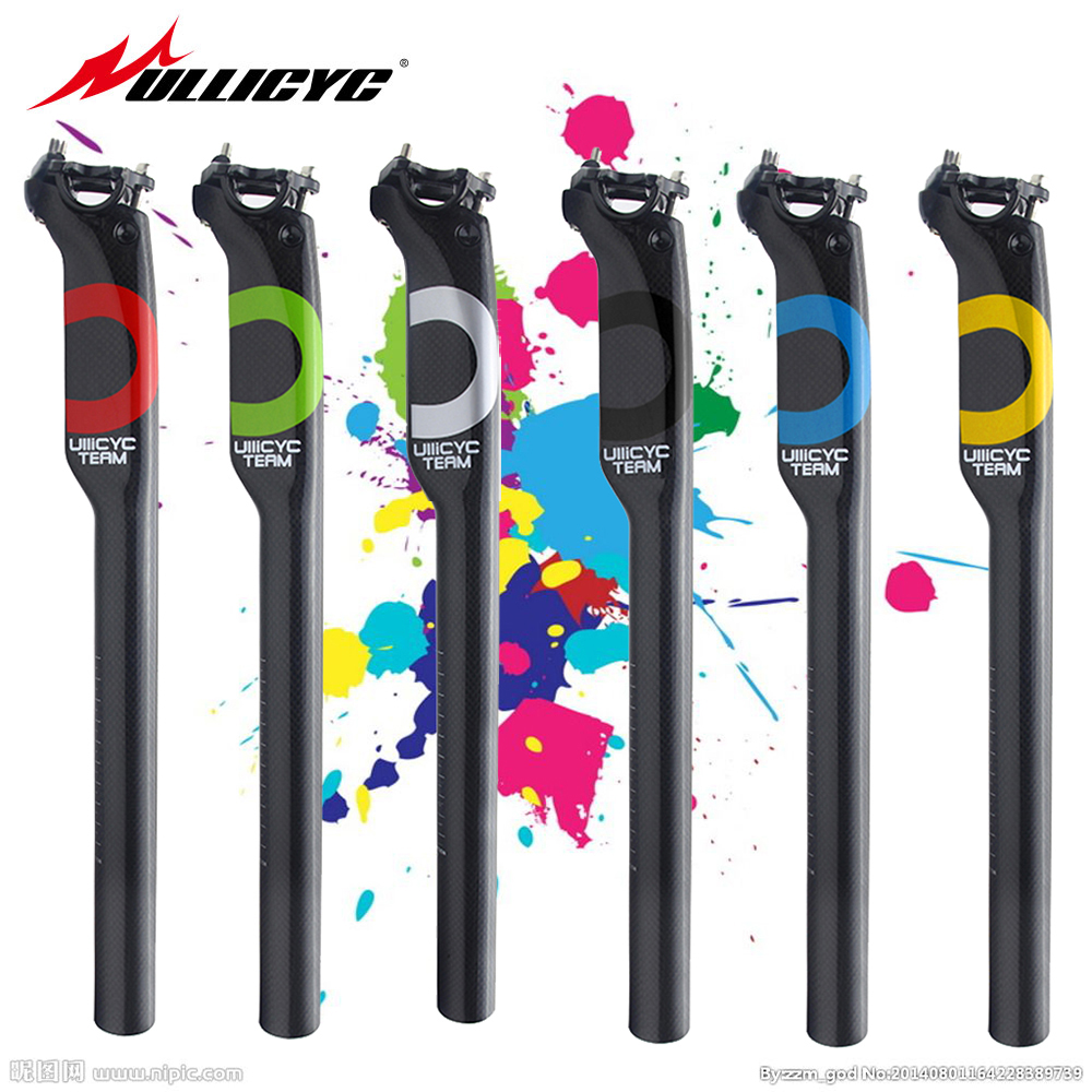New Mountain & Road Carbon Seatpost Full Carbon Bicycle Seatpost Carbon Bike Seatpost MTB Bike Parts 27.2/30.8/31.6*350mm ZG212