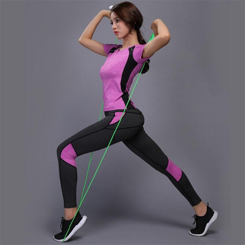 JINXIUSHIRT Women Yoga Set Gym Sexy Fitness Clothes Tennis Shirt+Pants Running Tight Jogging Workout Yoga Leggings Sport Suit