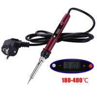 Fer à souder électrique réglable 220 V 80 W LCD soudage numérique fer à souder avec régulateur BGA Station de soudage outils de reprise