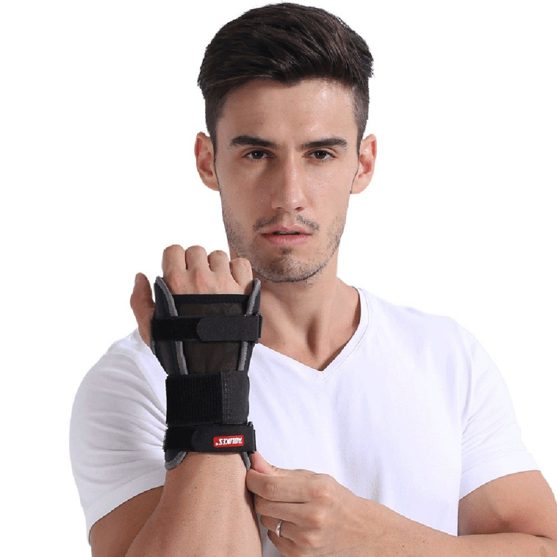 Fitness Support Brace Dumbbells Gloves Wristband for Men Women Palms Breathable Fixed Fracture Splint Protector Wrist
