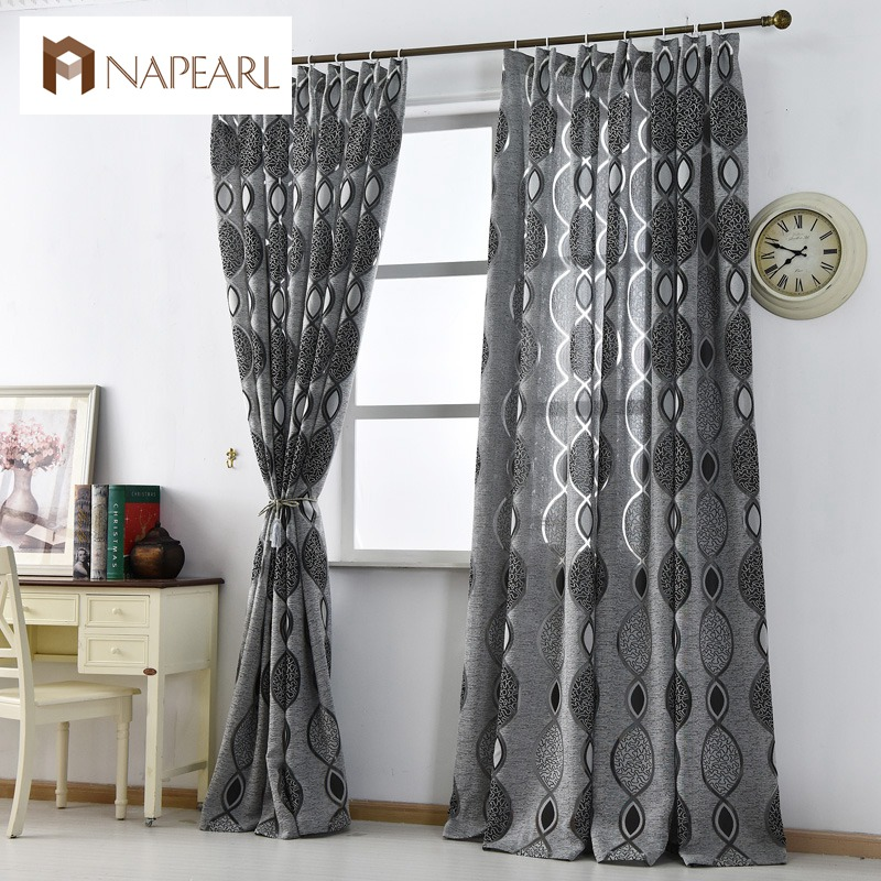 Modern Curtain Home Decoration Living Room Curtains Window Fabric Black Ready Luxury Treatments Brand