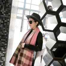 New Plaid Scarf Women Tartan Pattern Echarpe Hiver Femme Luxury Brand Cashmere Scarf YJWD587