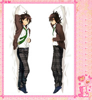 Japanese Anime Cartoon Ensemble Stars Double sided hugging Pillow Case Pillow Cover Pillowcase Peach Skin 2 Way 72014