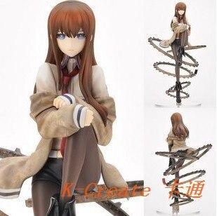 ФОТО Classic style 1pcs Japana anime cute Steins Gate Makise Kurisu pvc action figure toys tall 21cm.Free shipping 1pcs figure toy.