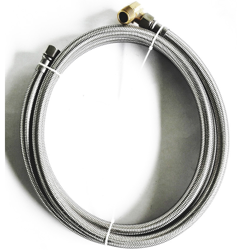 LF15010-60inch 3/8C*3/8C+90degree Elbow Flexible SS Diswasher Connector & SS braided connector