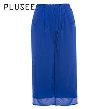 Здесь можно купить   Plusee Pants Plus Size 5XL 6XL Women Casual Loose Chiffon Thin Wide Legs Full Length High-Waist Plain Fashion Plus Size Pants Women
