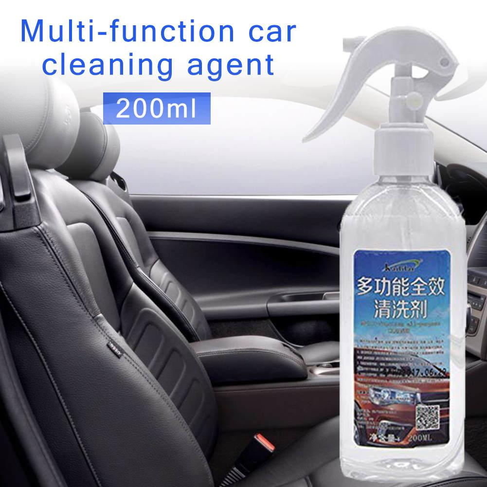 New Arrival 200ML Multi-Functional Car Interior Foam Cleaning Agent Water Cleaner For Stains Leather Or Fabric Instrument Panels
