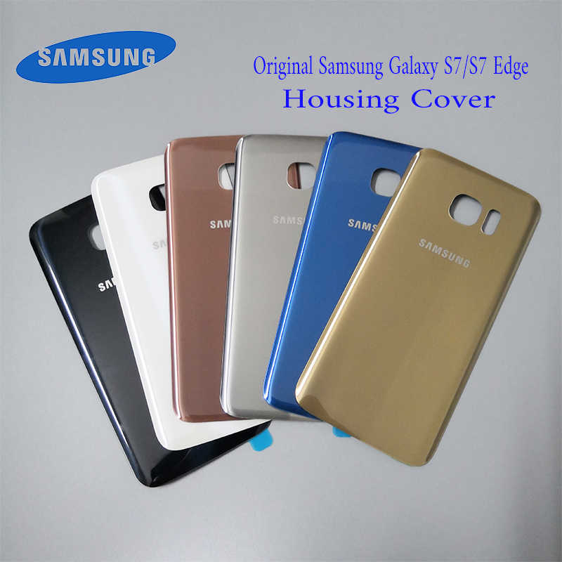 100%Original SAMSUNG Galaxy S7 G930F/S7 EDGE G935F Back Glass Battery Cover Rear Door Housing Case SAMSUNG S7 Back Glass Cover