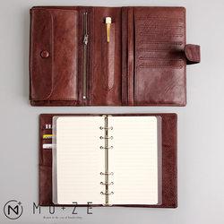 Yiwi 100% Genuine Leather Notebook Handmade Vintage Cowhide Diary Travel Journal Sketchbook Planner Gift