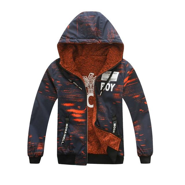 4554926a372c Children Outerwear Warm Coat Sporty Kids Clothes Double deck ...
