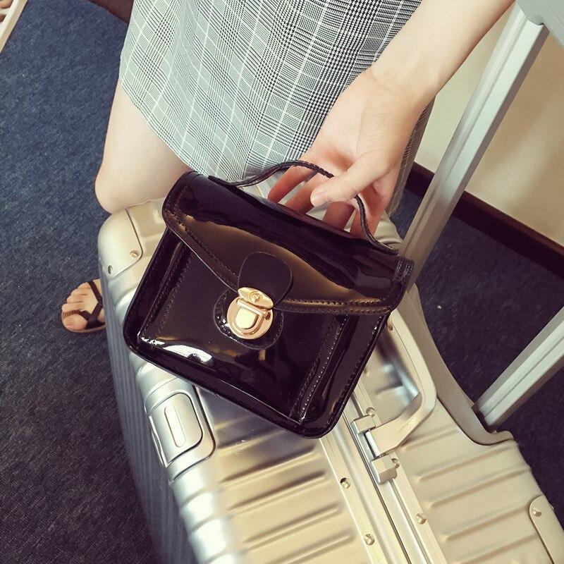 Patent Leather Handbag Chain Small Bag Mini bolsa feminina Woman Bag Shoulder Messenger Bag luxury handbags women bags designer luxury handbags women chain messenger bag lipstick lock designer woman black