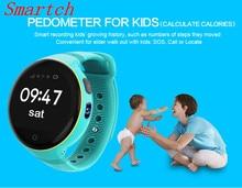 696 Crianças dos miúdos Relógio Inteligente S668 1.22 Polegada Tela Redonda 240*240 Relógio de Pulso GPS SOS Apoio Cartão SIM para IPhone/android